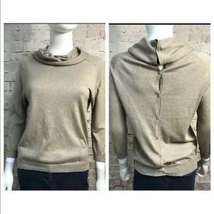 Snobby Sheep Tan Sweater sz Italy 42 Cashmere Silk
